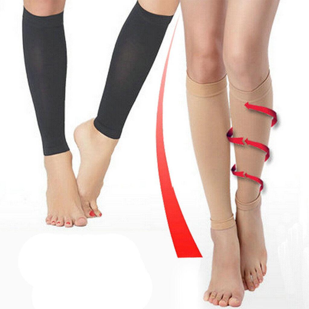 Medizinische Kompressionsstrümpfe Bein Atmungsaktive Krampfadern Kniestrümpfe