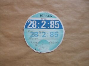 VINTAGE-TAX-DISC-FEBUARY-1985