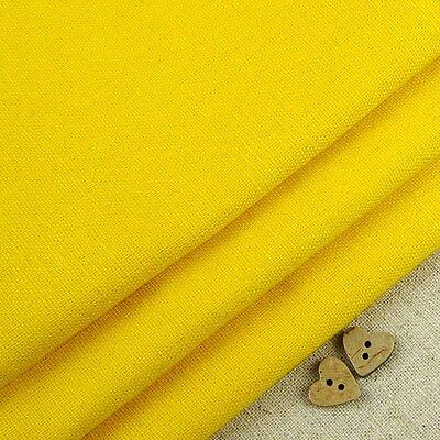 Robert Kaufman Essex Sunshine Yellow Linen Blend Fabric / dressmaking quilting