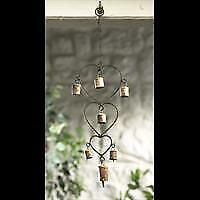 Fair Trade Windchime with 3 Hearts and Bells