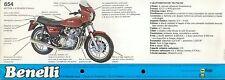 Benelli 654 Prospekt I 1982 Broschüre brochure folder Motorrad Italien moto bike