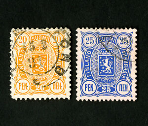 FINLANDE-timbres-N-52-3-superbe-lot-de-2-utilise-tres-beau-timbres-catalogue-value-45-00
