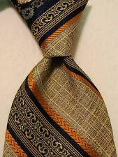 SEARS The Men's Store VINTAGE Polyester WIDE Neck Tie STRIPED Multi-Color EUC