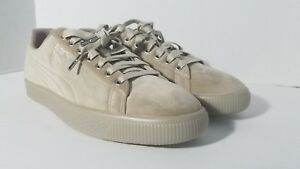 d9dd8025323b Puma Clyde Suede Classic Mens Sneaker Shoes 11 Grey Tan Limited Ed ...