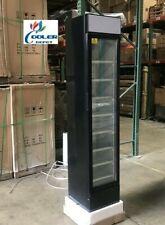 New Glass Door Refrigerator Merchandiser Slim Narrow Design Compact Display Nsf