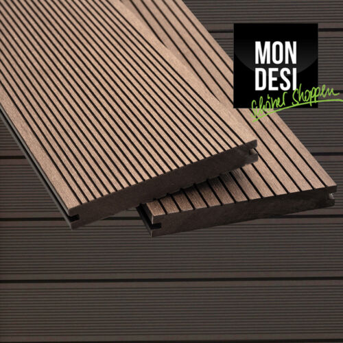 WPC Massiv Terrassendiele Muster Handmuster Dunkelbraun Terrasse Terrassenboden