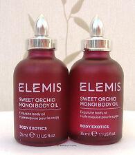 Elemis Sweet Orchid Monoi Body Oil  body exotics 2 x 35 ml  New -  Unboxed