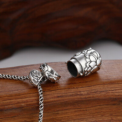 925 STERLING SILVER Cremation Jewelry Ash Pendant Urn funnel C10