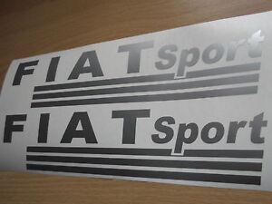 FIAT SPORT  VINYL CAR STICKERS x2