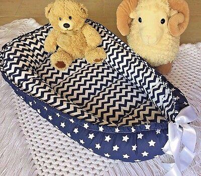 Double Sided Babynest Navy Baby Nest Co Sleeping Pod