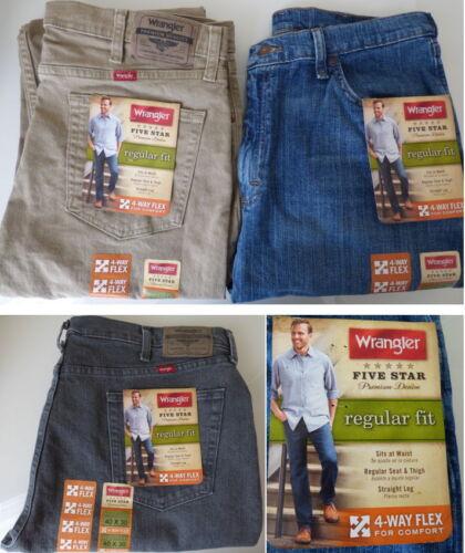 W48 Size W29 Wrangler 5 Star Regular Fit Jean with Flex Mens