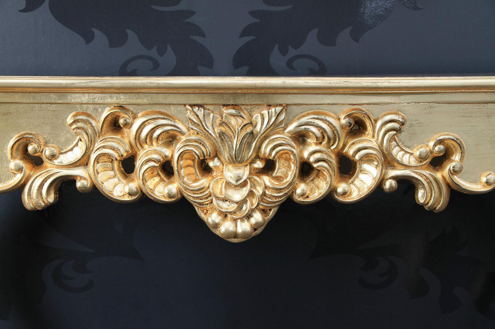 konsole sideboard gold antik finish luxuri s prunkvoll barock rokoko ablage 85cm ebay. Black Bedroom Furniture Sets. Home Design Ideas