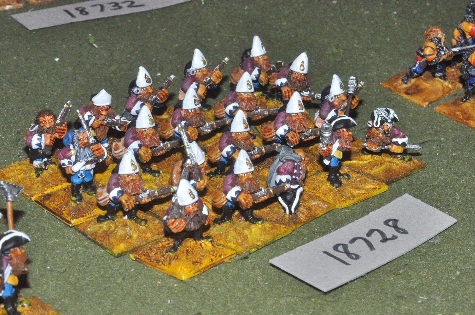 Flintloque fantasy dwarven Von redtes grenadiers infantry 20 {16} (18728)