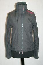 Womens Superdry Windcheater Jacket in dark grey/ pink. size small uk 8