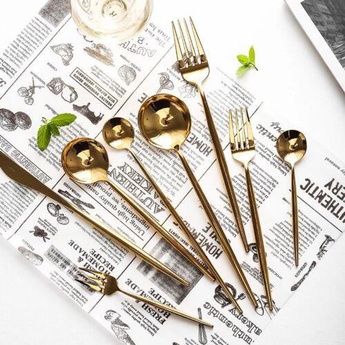 Tafelbesteck Poliert goldenes Besteck Edelstahl Besteck Set Besteck Gold