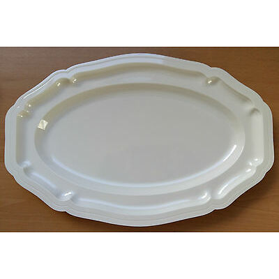 "Plastic Disposable 17"" Platters Serving Dish Cutlery White Party Wedding Event"