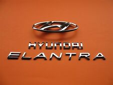 07 08 09 10 HYUNDAI ELANTRA REAR TRUNK LID EMBLEM LOGO BADGE SIGN SYMBOL SET #3