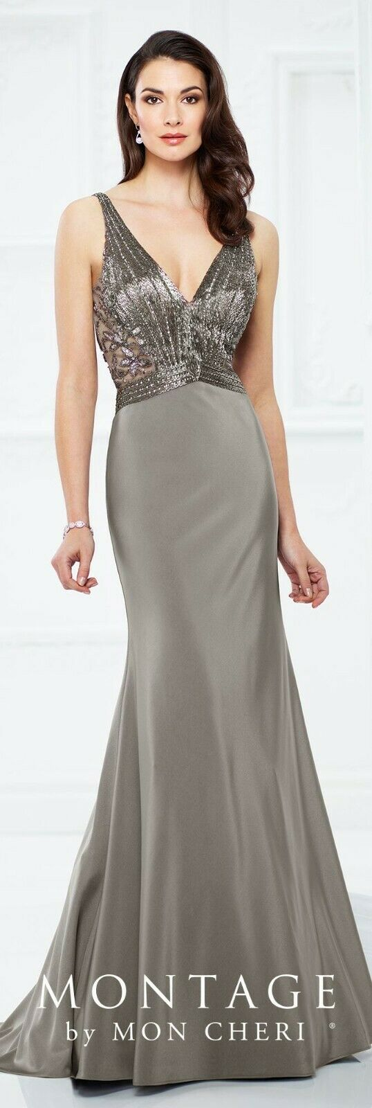 Montage 217933 Mother of the Bride Dress   Sample, Size: 10, Gray