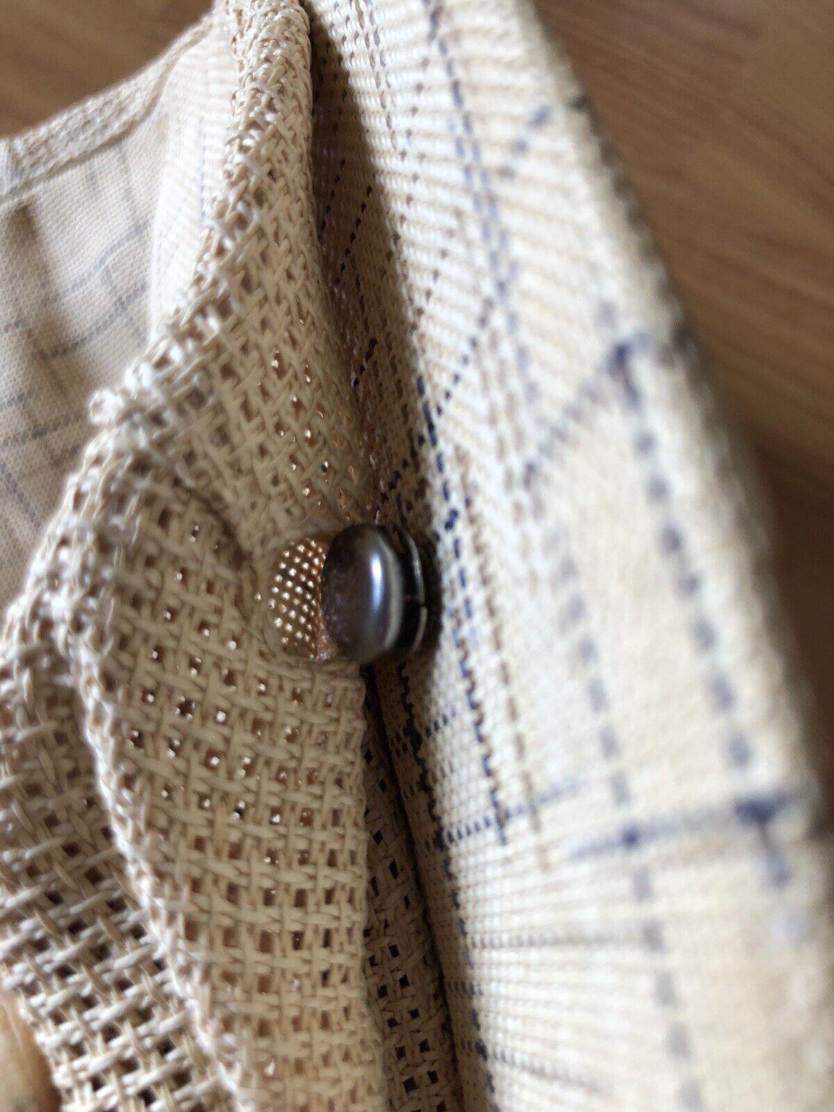 1950's Men's Japan Straw Newsboy Cap Size 7 1/4 - image 8