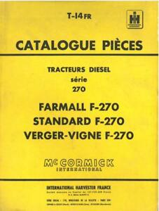 McCormick-International-Harvester-France-Tractor-Farmall-F270-Parts-Manual