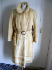 Vintage 1960s real fur coat cream honey mink genuine mink blonde fur size 14 UK