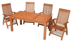 Gartenmobel Set Eukalyptusholz ~ Merxx gartenmöbel set comodoro 5 teilig tisch 170 x 90 cm