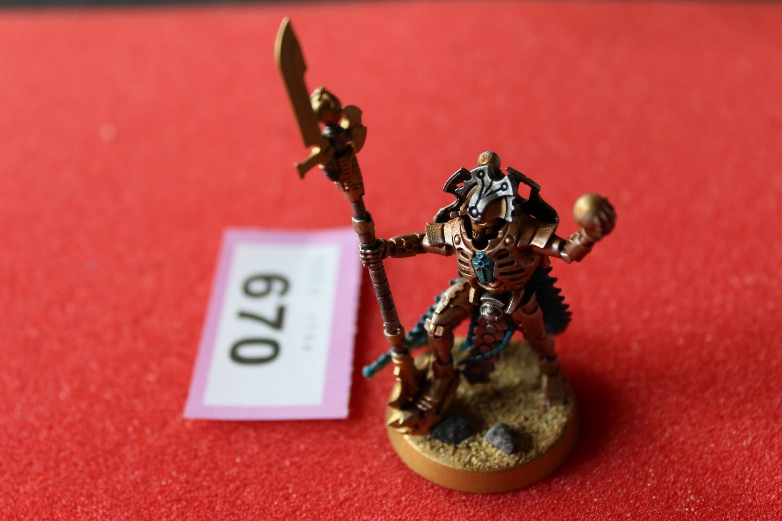 Games Workshop Warhammer 40k Necron Necron Overlord Well Painted Necrons Army B2