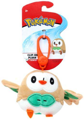 Pokemon Rowlet 4-Inch Clip-On Plush