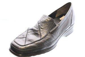 Verhulst-Schuhe-schwarz-Leder-Wechselfussbett-Schuhweite-H-Gr-37-5-UK-4-5