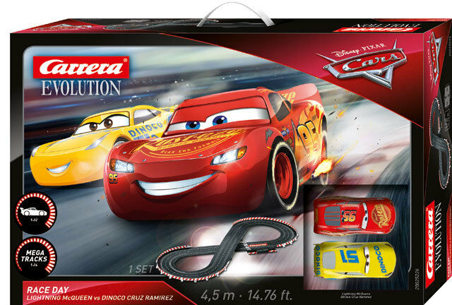 Carrera 25226 - - - Evolution Disnay Pixar Cars 3 - Race Day Rennbahn NEU und OVP  | Schöne Farbe  2f22a3