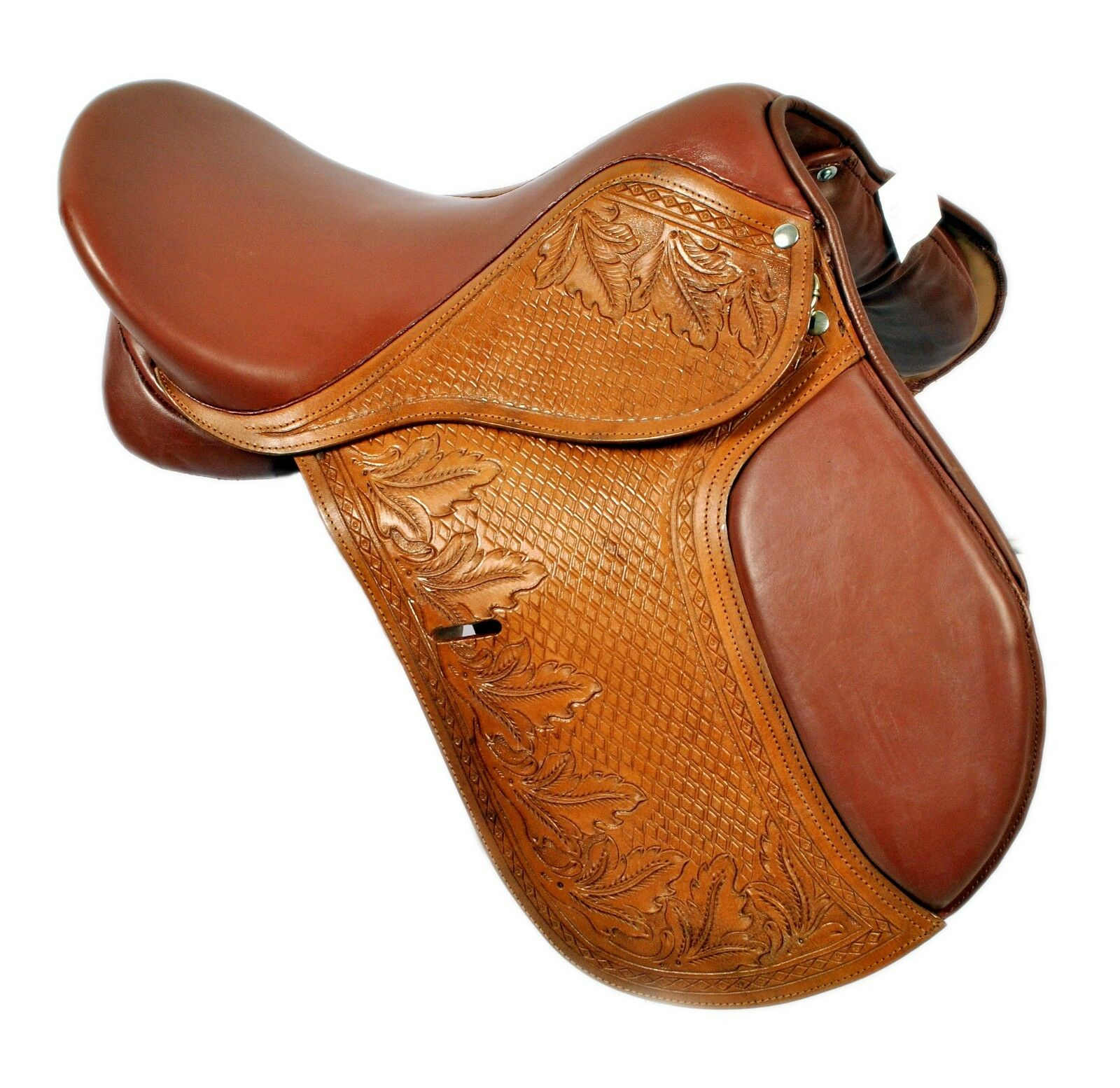 17  Close Contact Jumping  Saddle- Hand Carved &  Hand Tooled  cheap designer brands