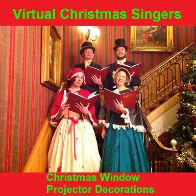 MP4 Virtual Santa in the window Digital Christmas decorations projector FX