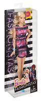 Mattel - Fashionistas - Barbie im schwarzen Blumenkleid, NEU, OVP, DMF30