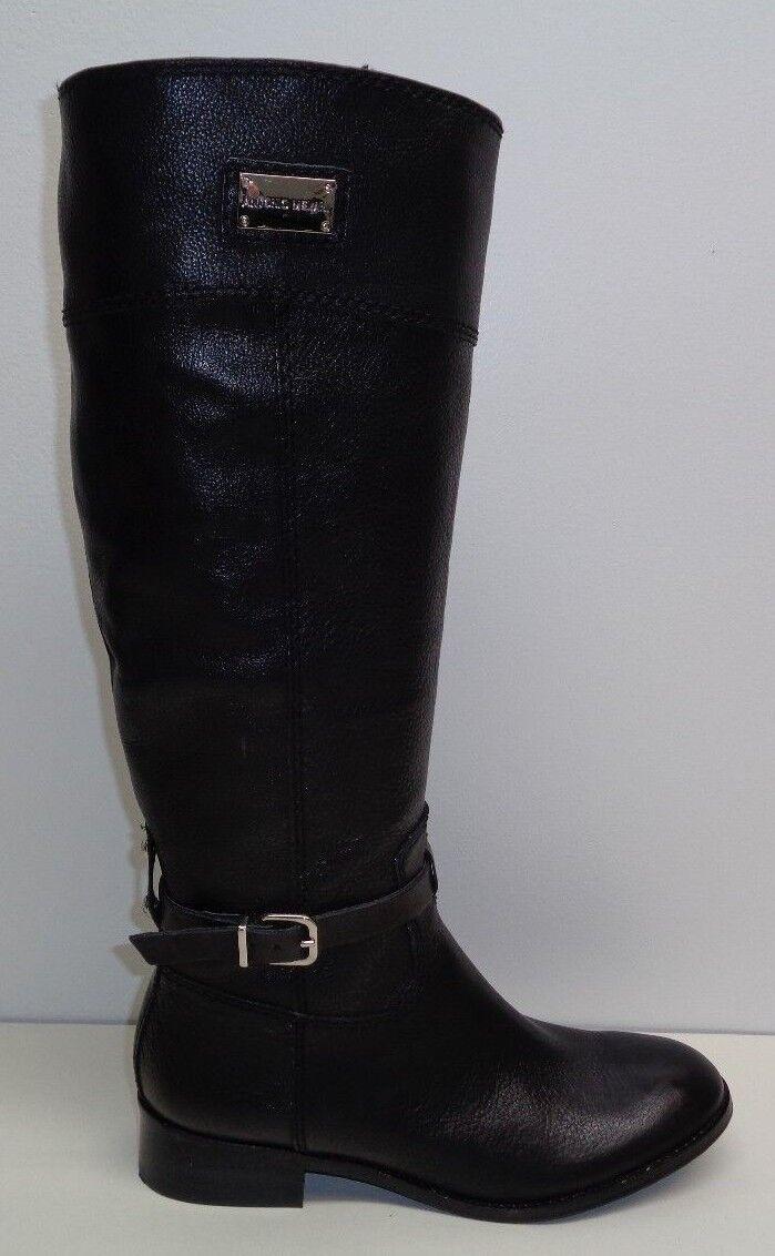 Antonio Melani Size 8.5 M ELENA Black Leather Knee High Boots New Womens Shoes