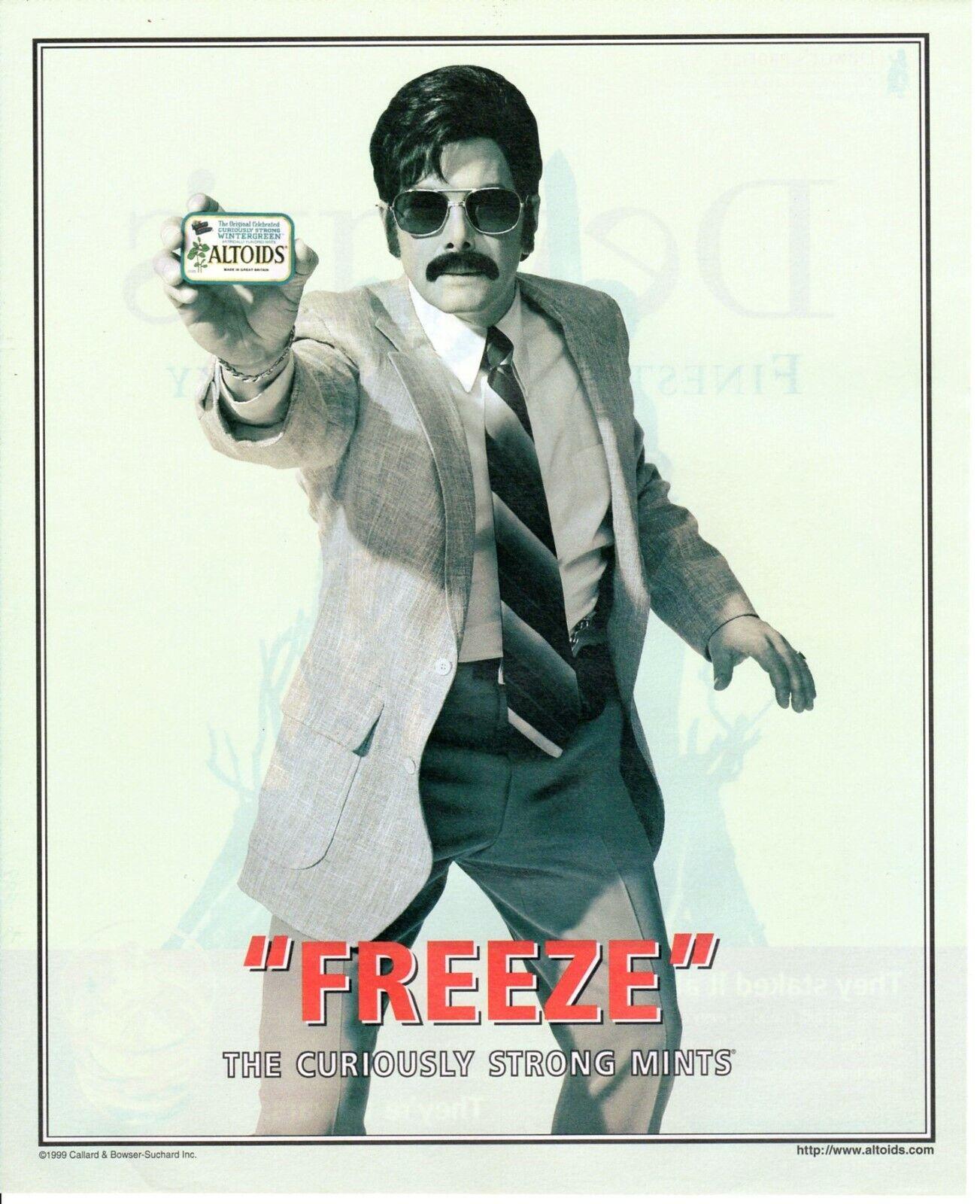 Vintage Print Ad Advertisement Altoids Mints 70 S Cop Wintergreen Freeze Funny Ebay
