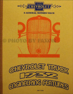 1932-Chevrolet-Truck-Engineering-Features-Manual-Chevy-Pickup-Panel-Express-More