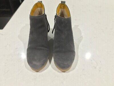 White Stuff Aimee Wedge Boots Grey