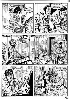 Prl) Caravan 11 Tavola Originale China Fabio Valdambrini Comic Art Ink Italy