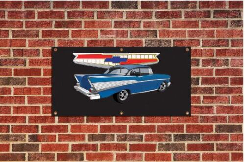 1957 Chevrolet Chevy Bel Air Tribute Garage Banner