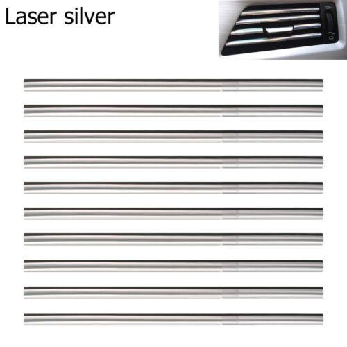 10x Car Air Conditioner Outlet Vent Grille Decor U Shape Molding Trim Strip