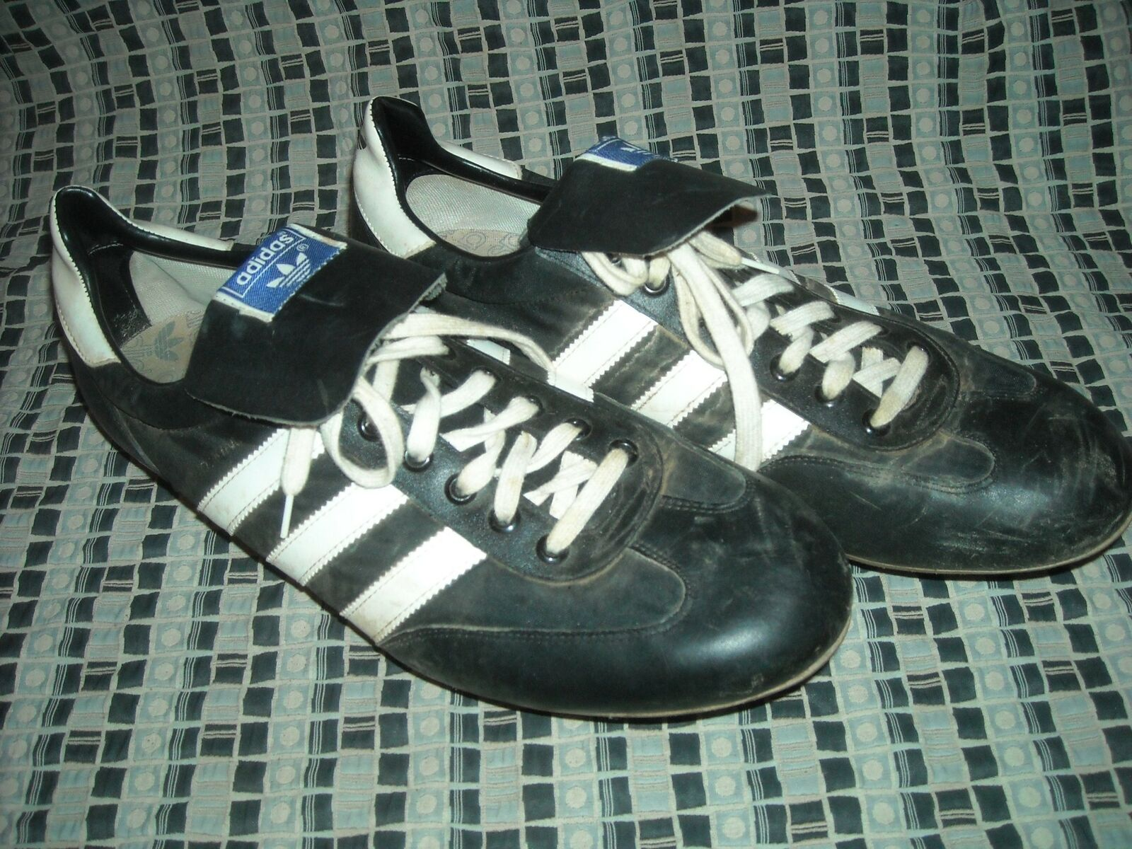 VTG 70S MENS 12.5 ADIDAS TAIWAN METAL CLEATS DIAMOND KING SHOES SNEAKERS