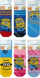 Childrens-Socks-3-Pairs-Boys-Girls-Kids-Despicable-Me-Minion-Novelty-Design