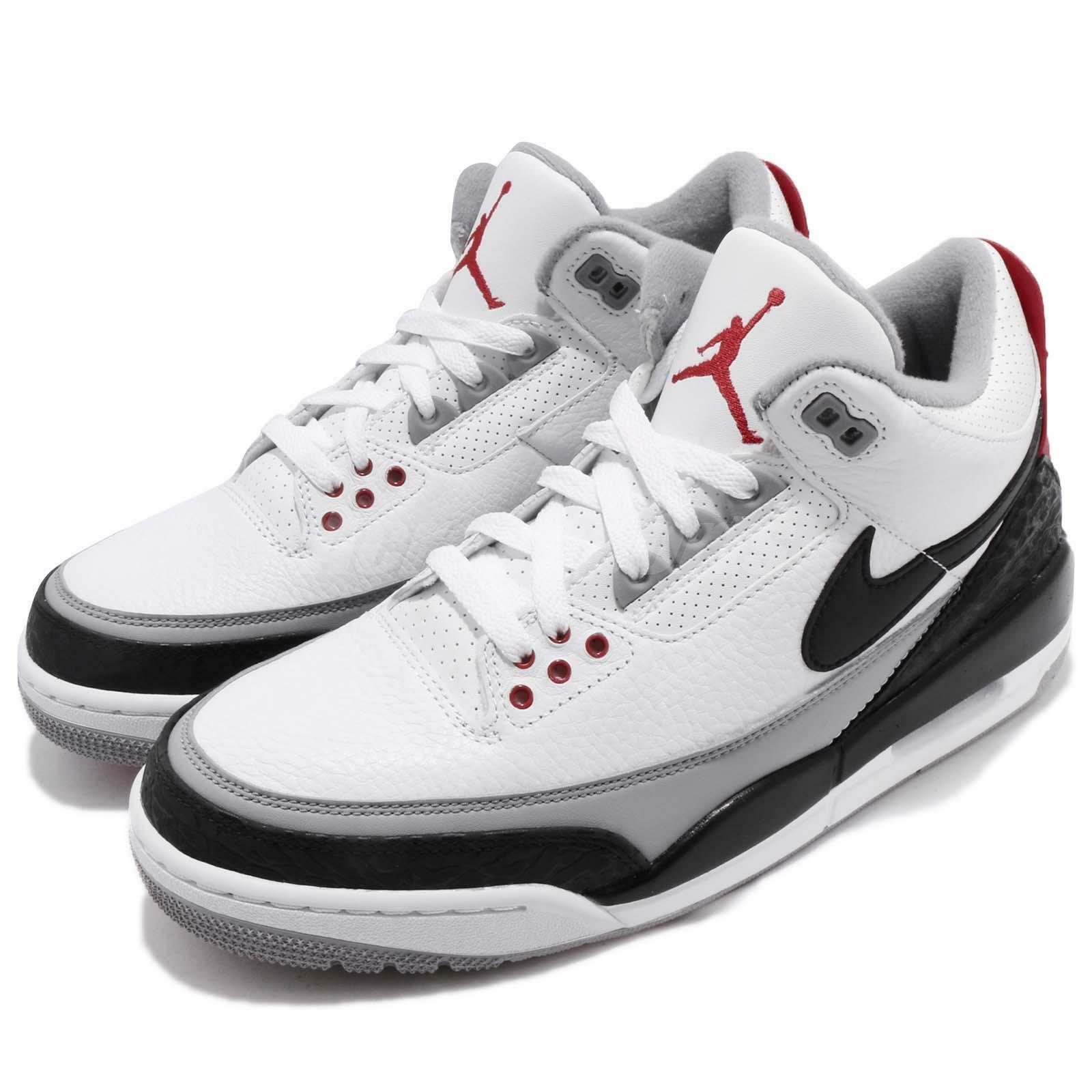 Nike Air Jordan 3 Retro Tinker Hatfield AJ3 NRG III Negro Cemento AJ3 Hatfield de hombre AQ3835160 bd0c5b
