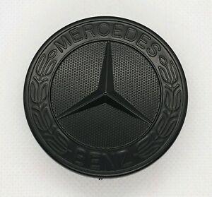 57 mm-C E S CLK AMG CLASSE Emblème Mercedes Benz sport Gloss Black Bonnet Badge