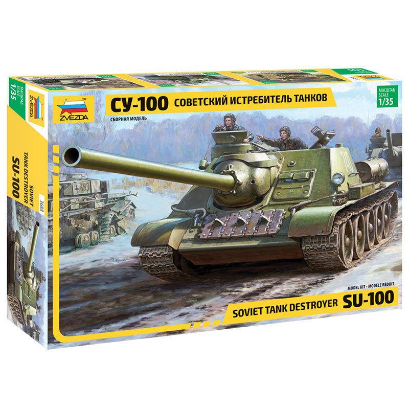 ZVEZDA 3688 Soviet S.P Gun Su 100 1 35 Military Model Kit