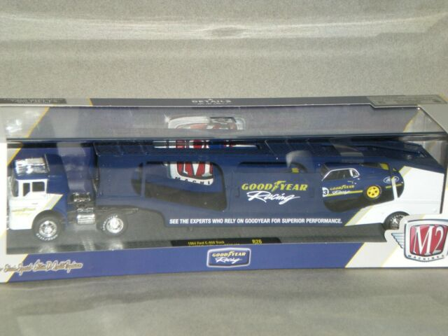 1/64th M2 Auto Haulers Good Year Racing 1964 Ford C950 & 1970 Mustang BOSS 302