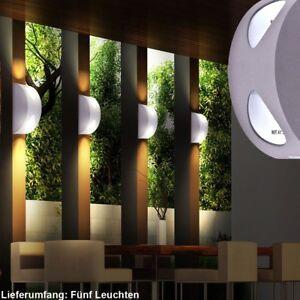 5 X Applique Led Luminaire Mural Lampe Del Espace Exterieur Jardin