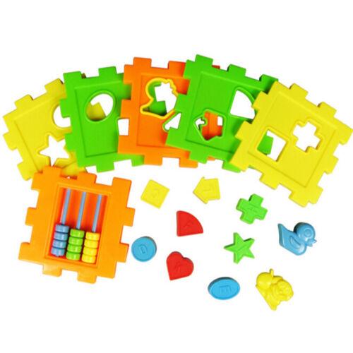 Baby Educational Toy Bricks Matching Intelligence Sorting Box new SG