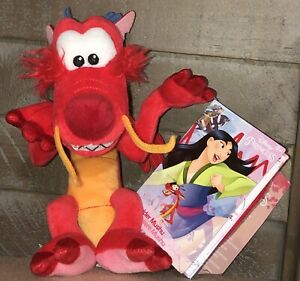 Disney-Parks-Mushu-Dragon-Magnetic-Magnet-Shoulder-Plush-Doll-Mulan-NEW