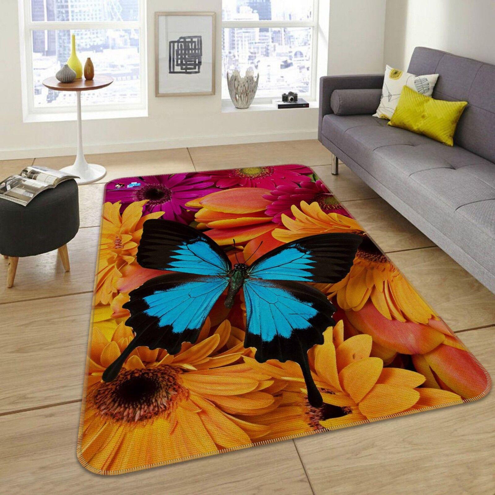 3d patrón de mariposa 5 antideslizante alfombra alfombrilla para maletero alfombra elegante de